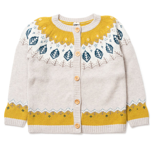 Girls Jacquard Cardigan