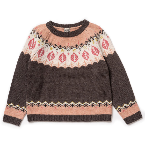 Girls Brique Jacquard Jumper