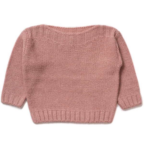 Girls Pink Velvet Jumper