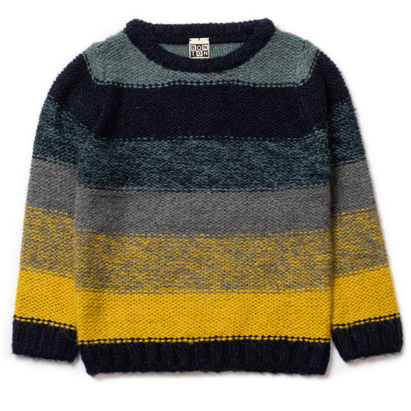 Boys Blue Stripe Jumper