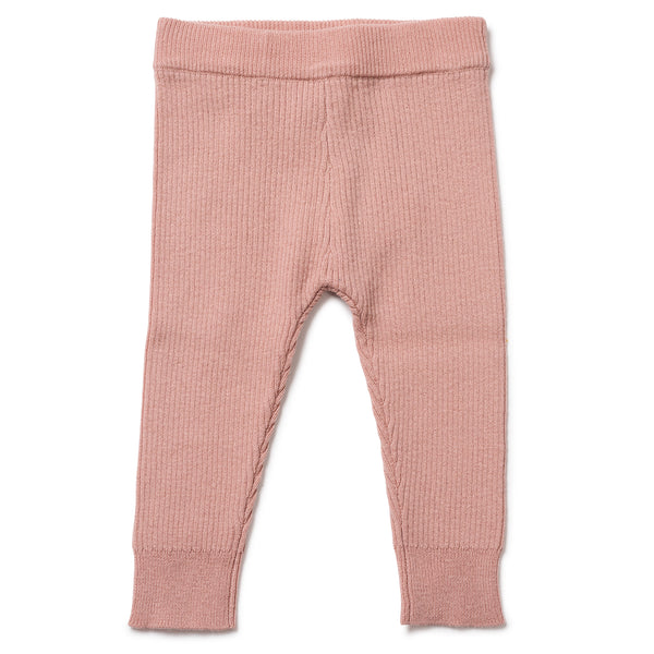 Baby Boys & Girls Pink Velvet Leggings