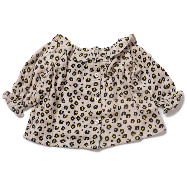 Baby Girls Imp Leopard Cotton Blouse