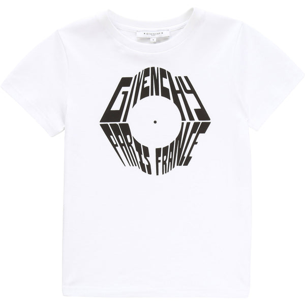 Boys White Logo Cotton T-shirt