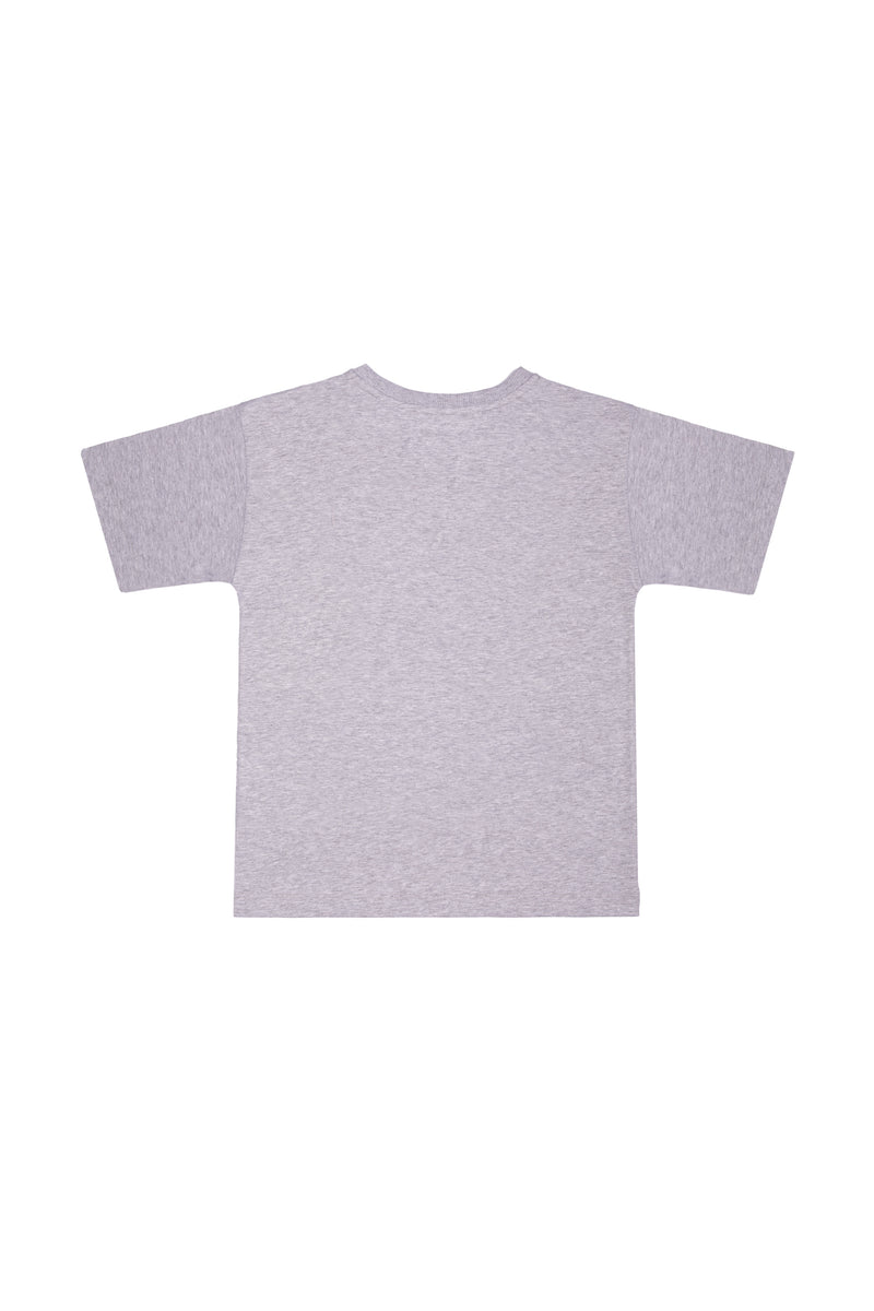 Girls Grey Logo Cotton Maxi T-shirt