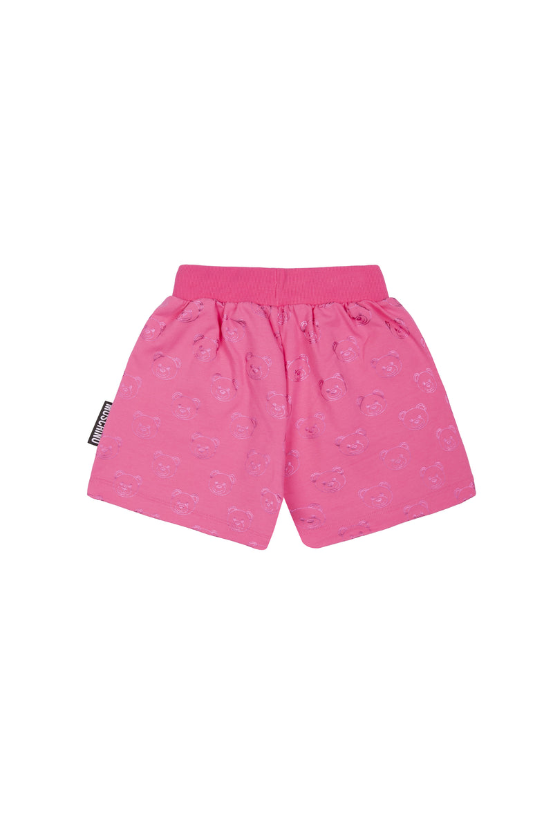 Girls Pink Cotton Shorts