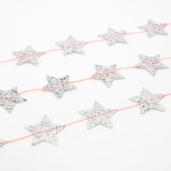 Silver Star Mini Garland