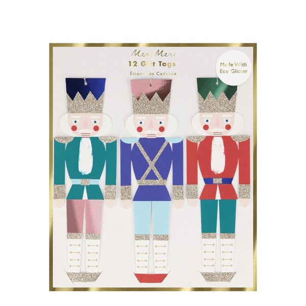 Metallic Nutcracker Gift Tags