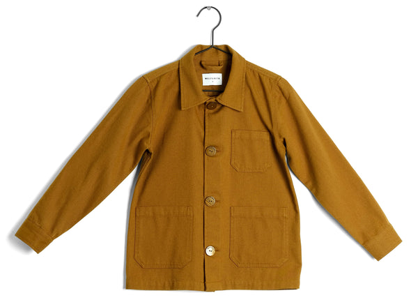 Girls Ginger Faux Fur Lining Button-up Jacket