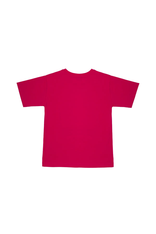 Girls Fuchsia Logo Cotton T-shirt