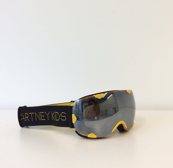 Yellow & Black Ski Goggles