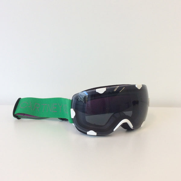 White & Green Ski Goggles