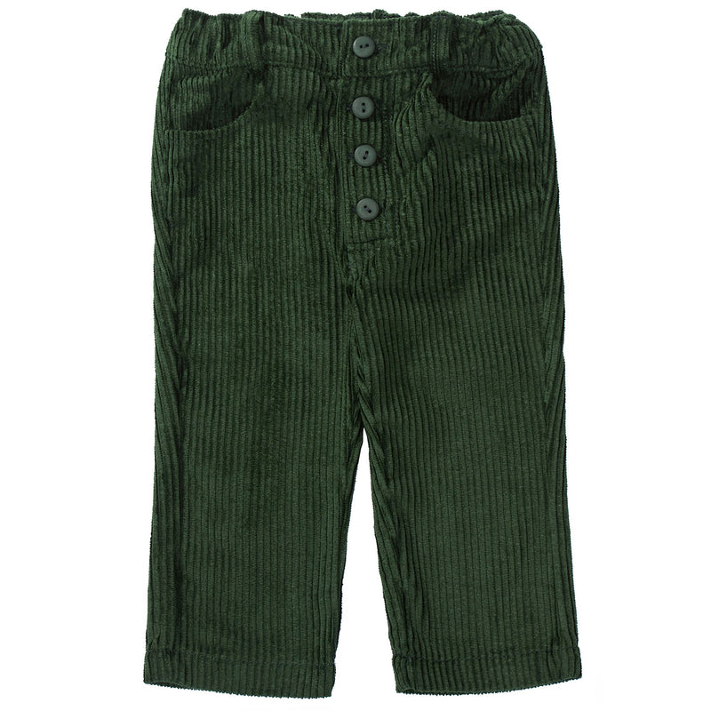 Boys Green Cotton Trousers
