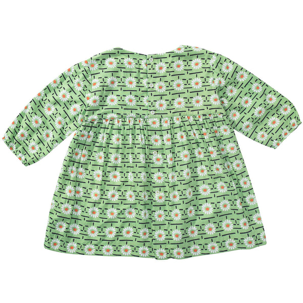 Baby Girls Green Daisy Printed Dress