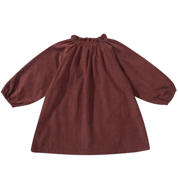 Baby Girls Wine Red Cotton Dress