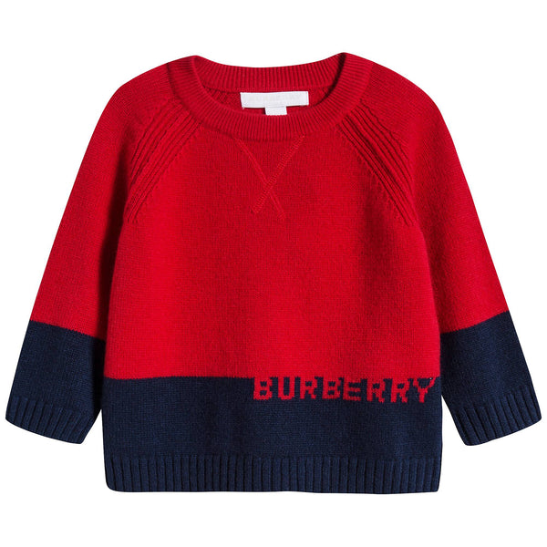 Baby Boys Bright Red Cashmere Sweater