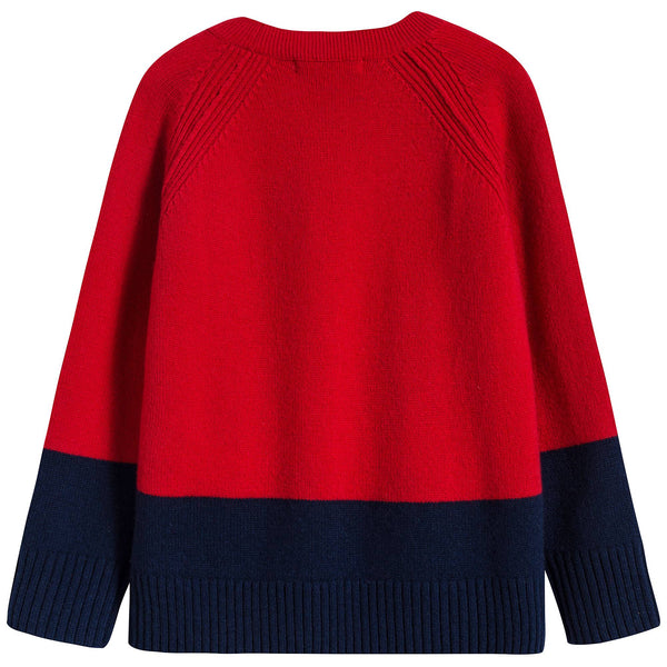 Boys Bright Red Cashmere Sweater