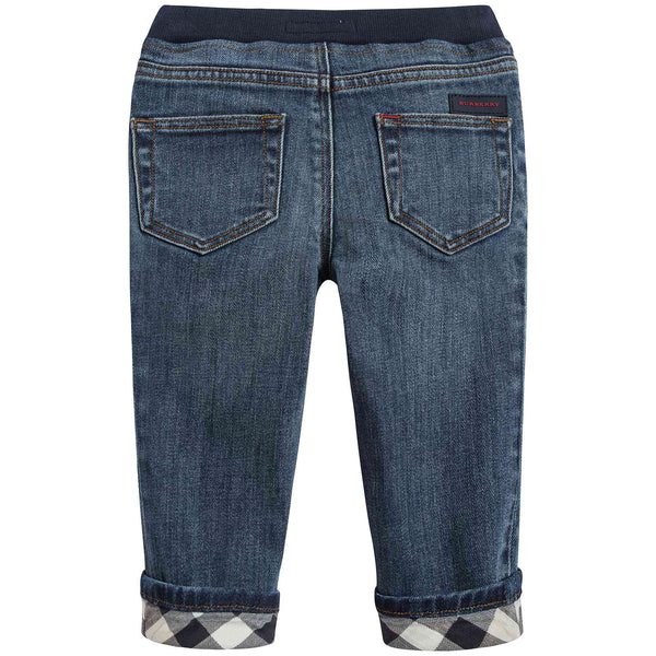 Baby Boys Mid Indigo Cotton Trousers