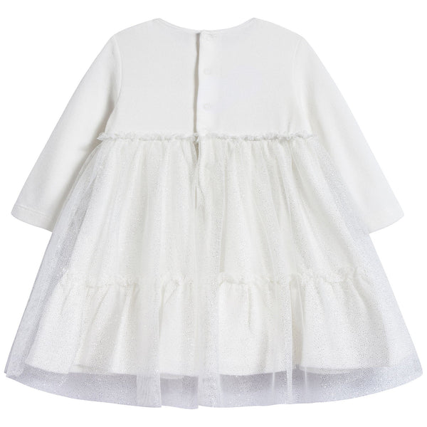 Baby Girls Milk & White Dress