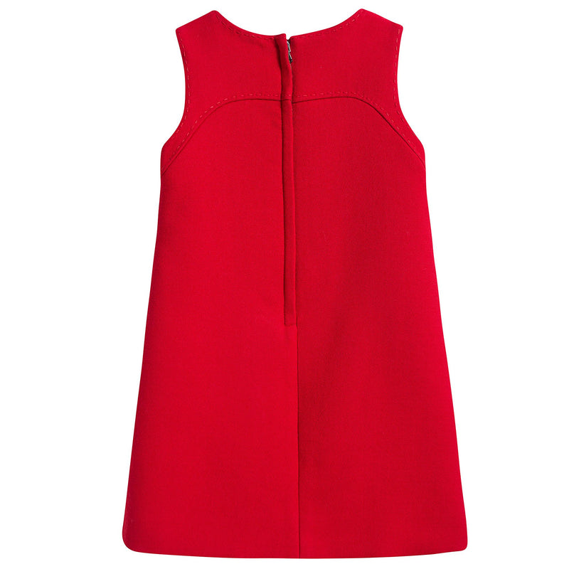 Girls Red Wool Dress