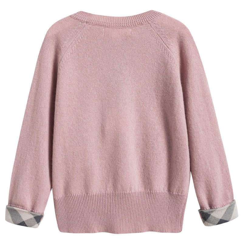 Girls Dusty Pink Cashmere Sweater
