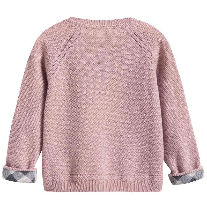 Girls Dusty Pink Cashmere Cardigan