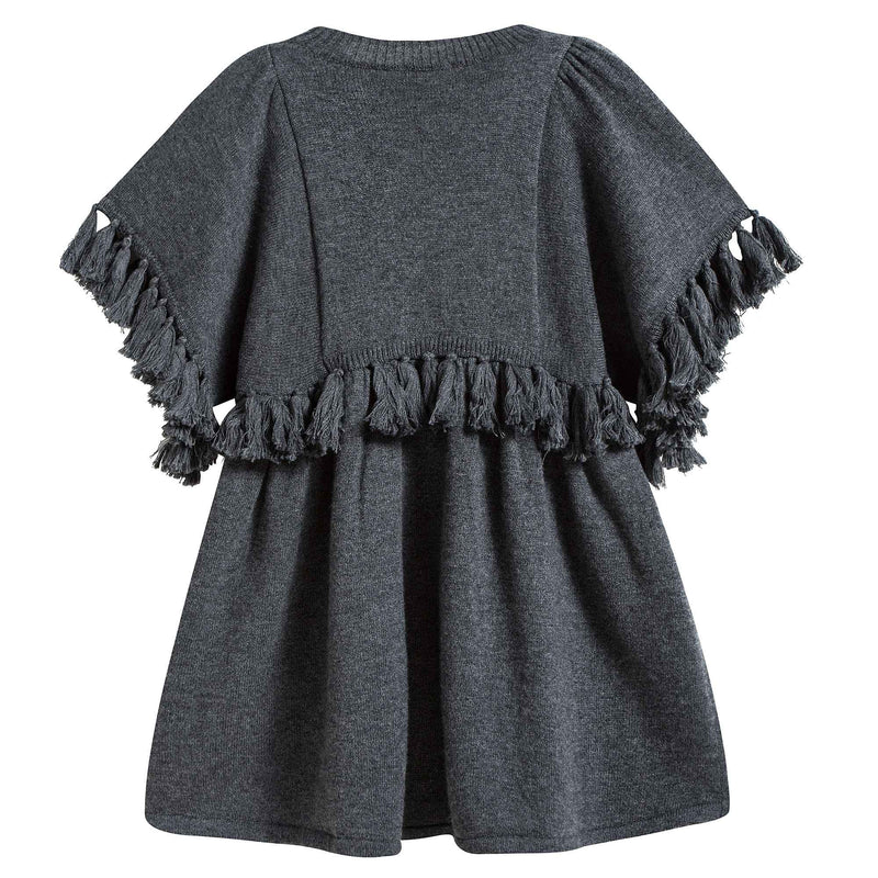 Girls Grey Knitted Dress