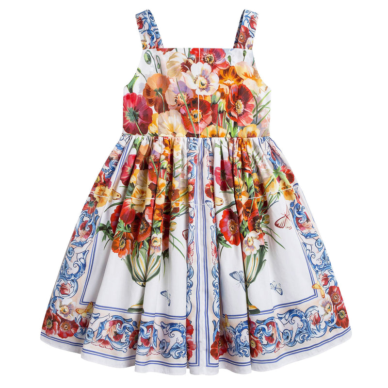 Girls 'Caltagirone' Cotton Dress