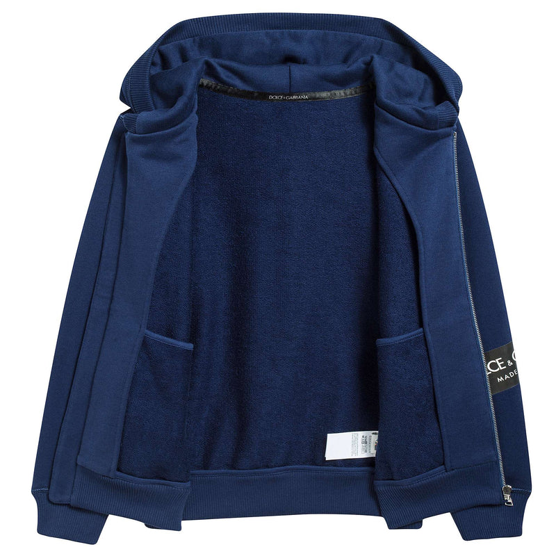Boys Blue Zip-up Top