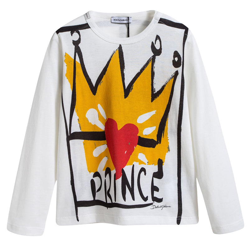 Baby Boys White 'Prince' T-shirt