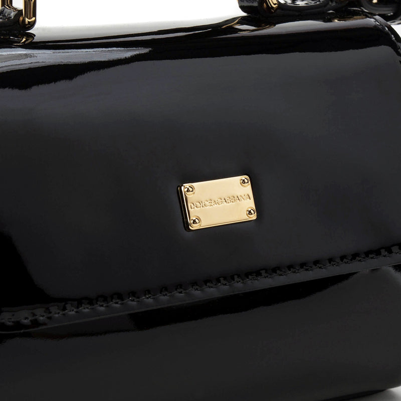 Girls Black Calf Bag