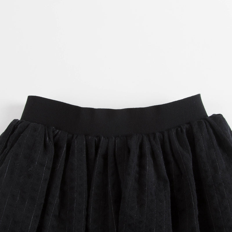 Girls Black Waved Skirt