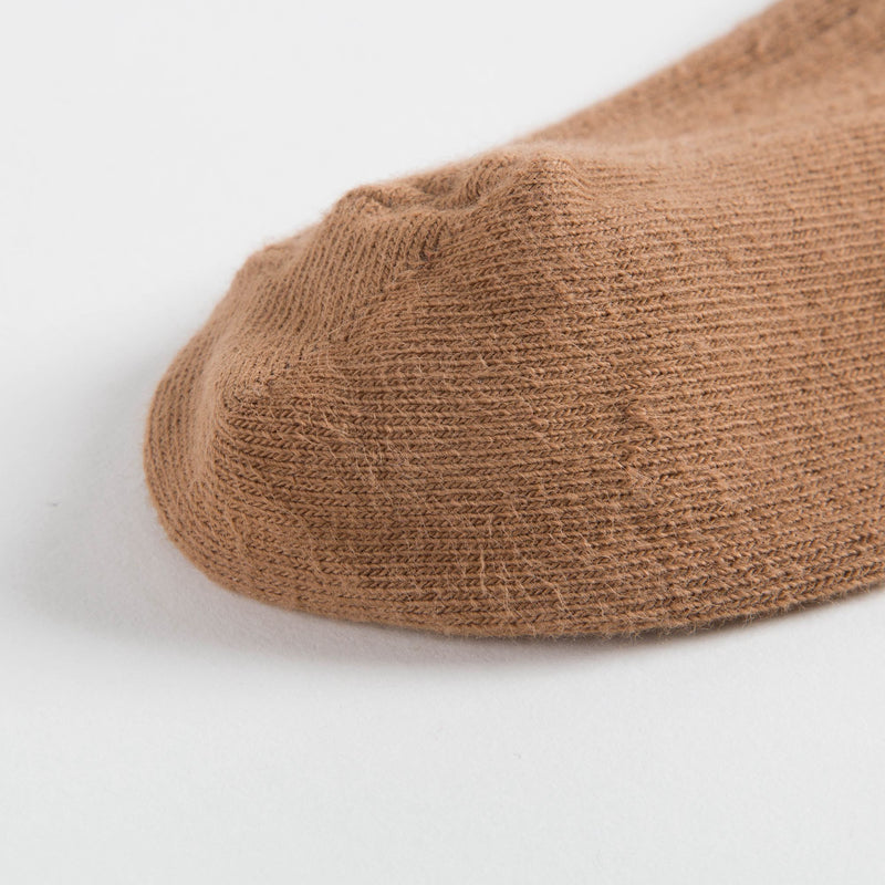 Girls Camel Ribbed Tights