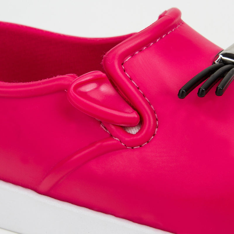 Girls Pink 'Cat' Slip-On Shoes