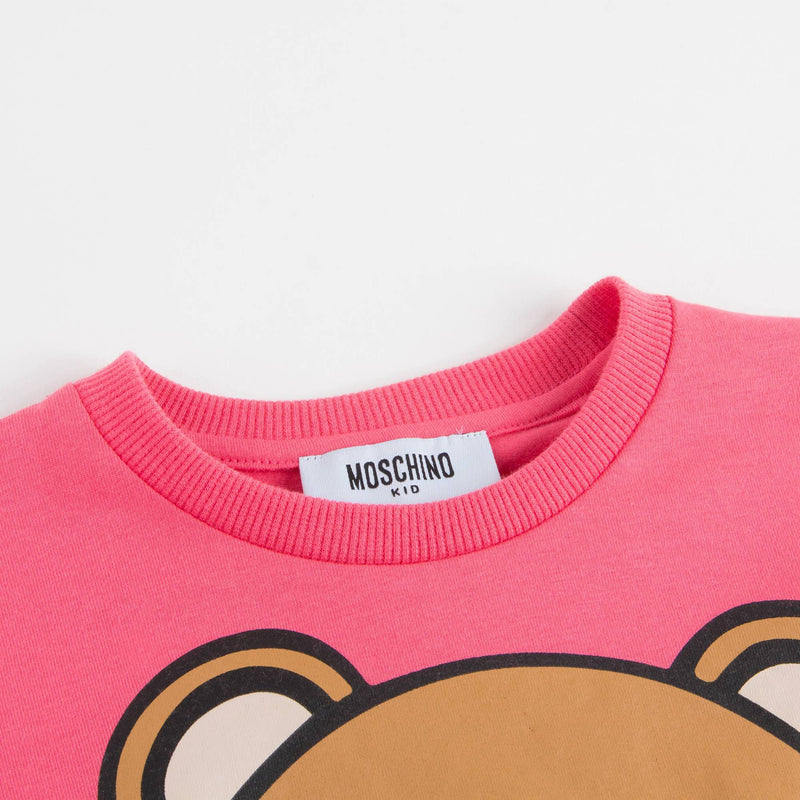 Girls Coral Pink Teddy Top