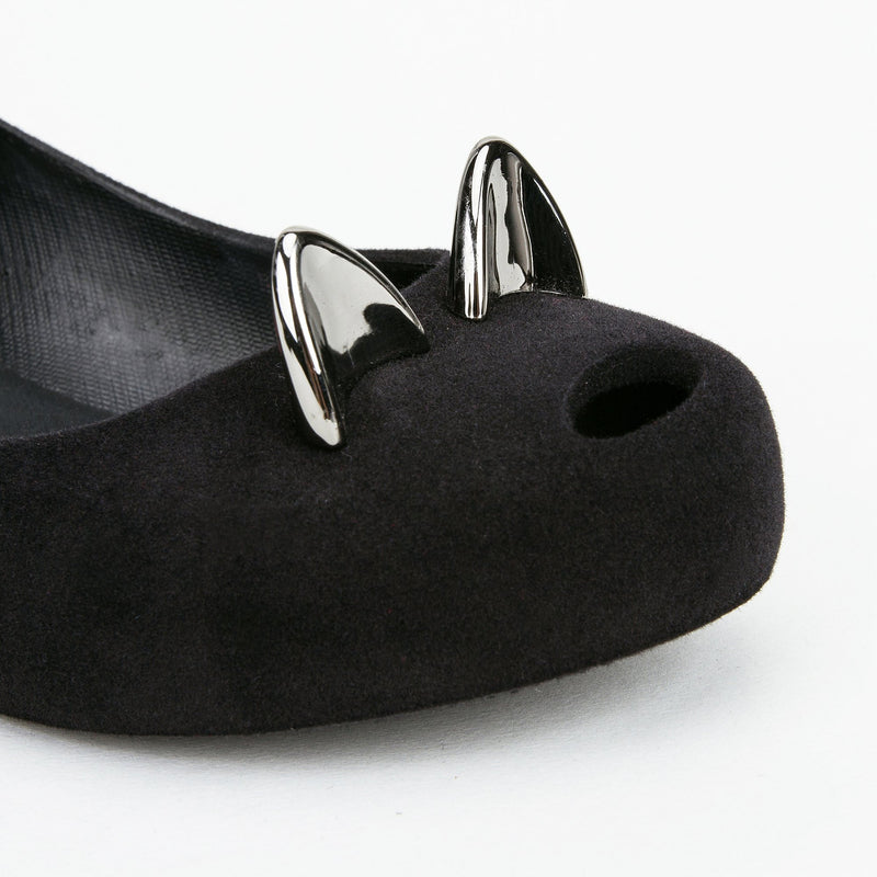 Girls Black Cat Shoes