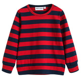 Girls Red & Blue Striped T-shirt
