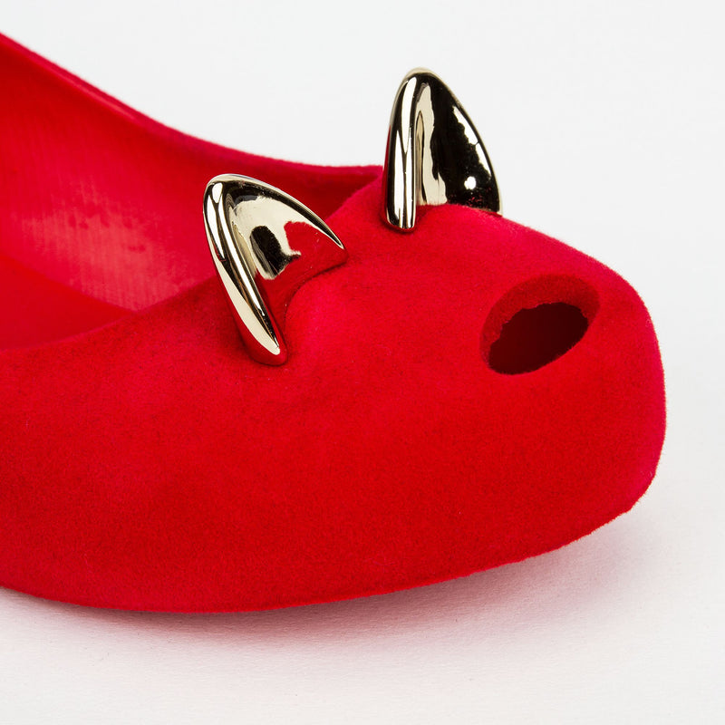 Girls Red Cat Shoes