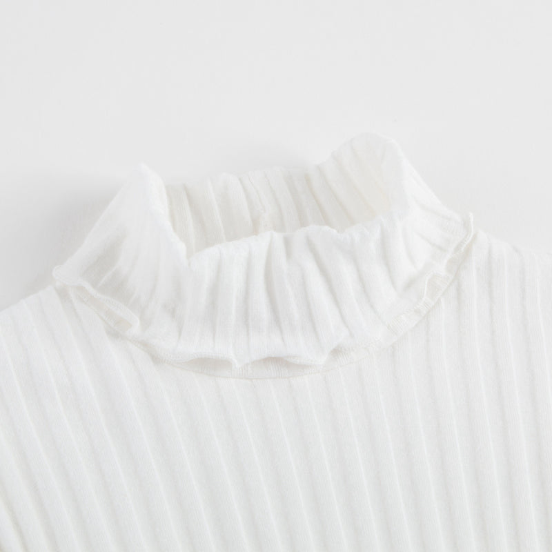 Girls Ivory Striped Top