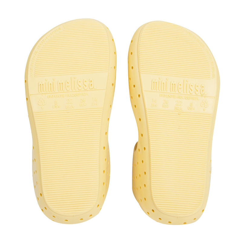 Girls Yellow Heart Jelly Shoes