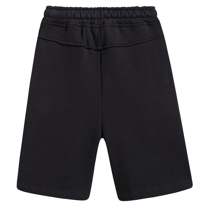 Girls Black Cotton Shorts