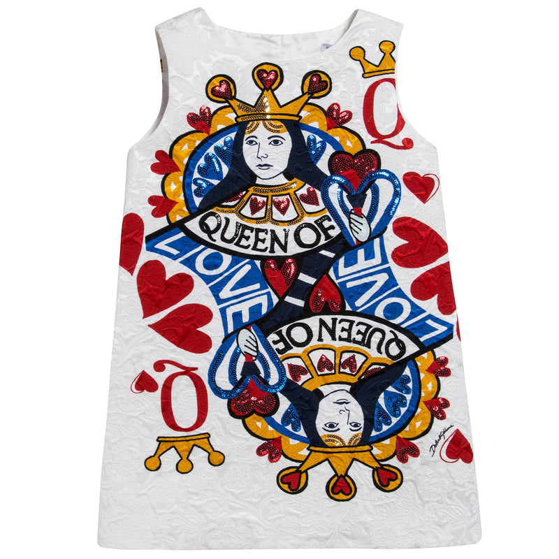 Girls Ivory 'Queen Of Hearts' Dress