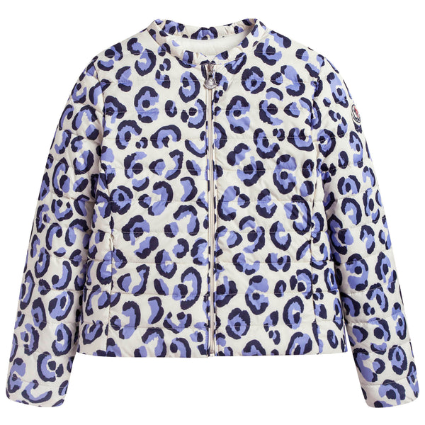 Girls Multicolor Printed Trims Jacket