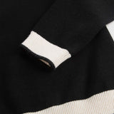 Girls Black & White Wool Sweater - CÉMAROSE | Children's Fashion Store - 4