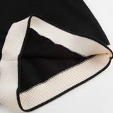 Girls Black & White Wool Sweater - CÉMAROSE | Children's Fashion Store - 5