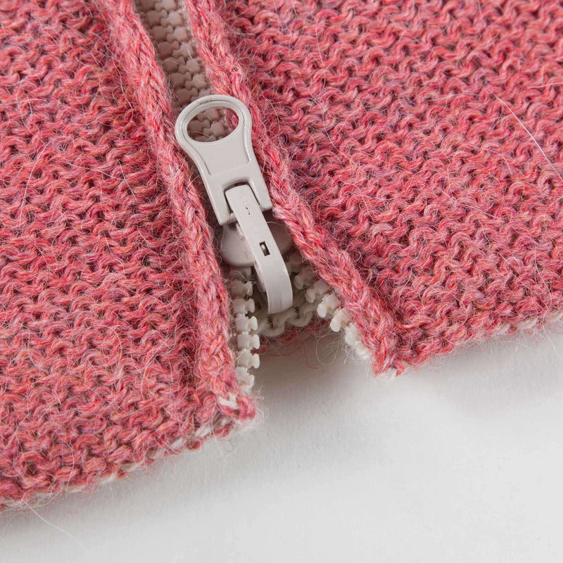 Baby Rose Pink Bunny Alpaca Hooded Sweater