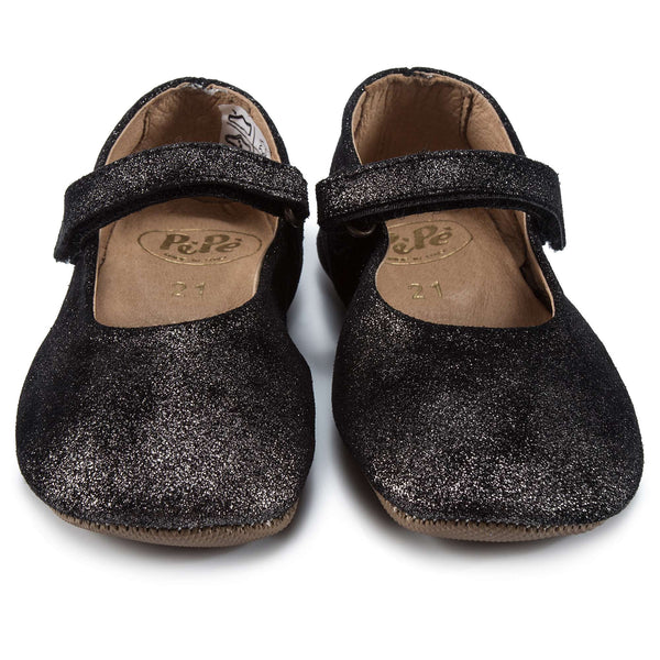 Girls Black Flat Shoes