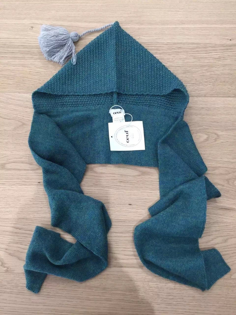 Baby Blue  Alpaga Wool Hat Scarf - CÉMAROSE | Children's Fashion Store