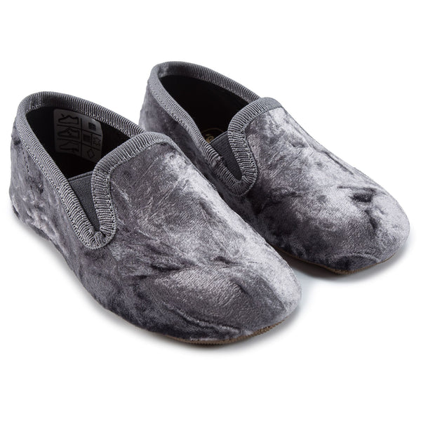 Girls Grey Loafers