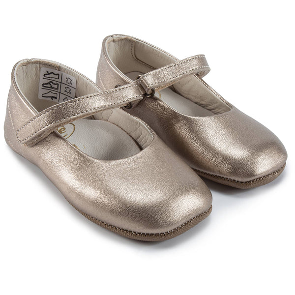 Girls Copper Flat Shoes