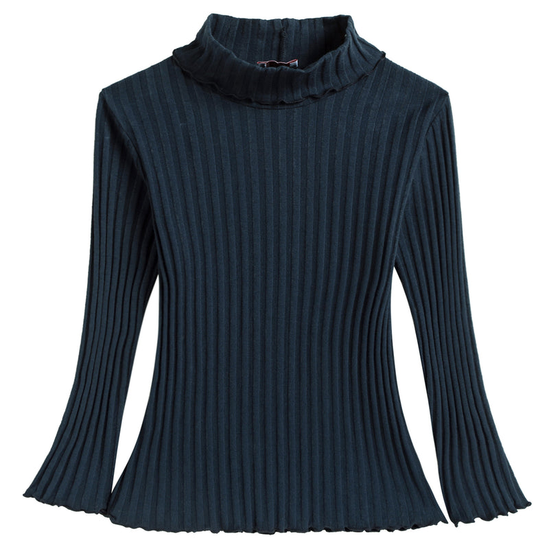 Girls Blue Striped Top